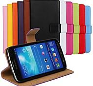 сплошной цвет натуральной кожи всего тела с крышкой слот для карт памяти для Samsung Galaxy S4 активных i9295
