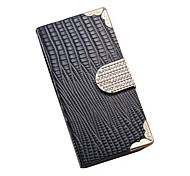 Lizard Pattern Full Body Case with Bling Buckle and Wallet Function Cover for iPhone 6(Assorted Colors)