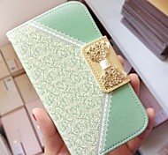 Lace PU Leather Full Body Case with Chain for iPhone 4/4S (Assorted Colors)