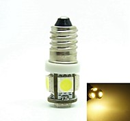 E10 1W 5X5050SMD 70-90LM 6500-7500K Warm White Light for Car Door lamp(DC12-16V)