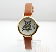 Women Watch British Owl Imitation Leather Belt Quartz Watch Fashion Watch Assorted Colors D041902