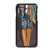 Mädchen in der Jeans-Design Aluminium-Hülle für das iPhone 6