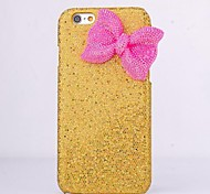 HHMM Bowknot Solid Color Glitter PC Hard Case for iPhone 6 Case 4.7 inch(Assorted Colors)