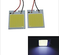 Carking™ T10 / BA9S / Festoon 28mm~40mm 6.7W 48-COB LED White Car Interior Dome Light(2PCS)