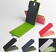 PU Leather Flip Case Fullbody for OnePlus One Solid Color Hard Case