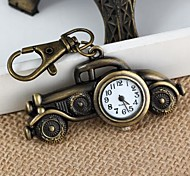 Unisex Alloy Analog Quartz Keychain Watch with Retro Car (Bronze)(1Pc)