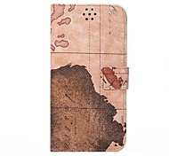 For iPhone 7 The World Map Leather Protective Flip Cover for iPhone 6 plus