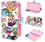Multiple Owls Wallet PU Leather Case Cover with Stand and Card Slot for Motorola Moto G2 XT1063 Dual Sim