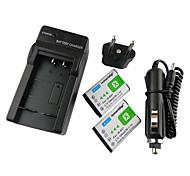 Ismartdigi-Sony NP-BX1x2(1240mAh,3.7V)Camera Battery+EU Plug+Car Charger For RX100/RX100II/RX1/RX1R/GWP88E