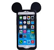 oreja de ratón estuche blando de silicona suave para el iphone 6 / 6s