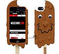 glace au chocolat meunier chiffre retour silicone Housse pour iPhone 5 / 5s (couleurs assorties)