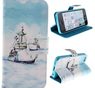The Ship Design PU Full Body Case with Stand with Card Slot for iPhone 5C