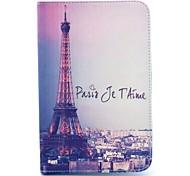 beroemde uitzicht op de Eiffeltoren patroon full body case met standaard voor Samsung Galaxy Tab 2 7.0 P3100