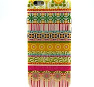 Yellow Circle Tribe Pattern TPU Soft Case for iPhone 6