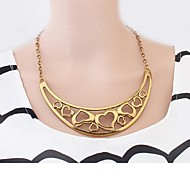 Golden Statement Necklaces Gold Plated Wedding / Party / Daily / Casual Jewelry