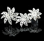 Personalized Women's/Flower Girl's Alloy/Cubic Zirconia Headpiece - Wedding/Special Occasion Hair Combs/Flowers
