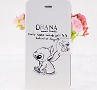 Cartoon Rabbits Pattern Leather Full Body Cases with Stand for iPhone 6