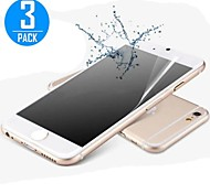 3 Stück High-Definition-Frontdisplayschutzfolie mit Reinigungsmikrofasertuch für iphone 6s / 6