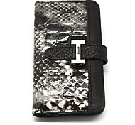 Miatone® Snakeskin Pattern Genuine Leather Full Body Case with Card Slot and Strap for iPhone 4/4S