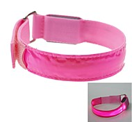 LED Light Color Lattice Arm Band Strap Armband Pink (2xCR2032)