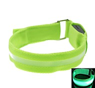 LED Light Screen Arm Band Strap Armband Green (2xCR2032)