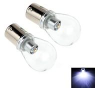2pcs s25 5w 1 x 3535smd 450lm 6000k LED de luz blanca para la luz de freno del coche (CC 10-30 V)