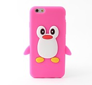 Cartoon Penguin Style Silicone Soft Case for iPhone 6/6S (Assoted Colors)