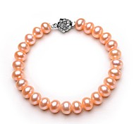 BRI.R® Fashion 8-9mm Natural Pearl Bracelet-- Pink