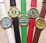 Women Watch Geometric Figure Leather Quatz Watch Assorted Colors D0422