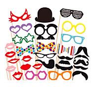 31 piezas stand de papel tarjeta de la foto de los apoyos divertido del favor de fiesta (gafas& sombrero& bigote& sombrero)