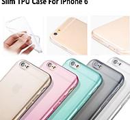 """venta caliente suave caso del tpu de ultra estilo delgado y flexible transparente para el iphone 6 / 6s 4.7 """"- (colores surtidos)"""