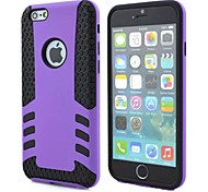 Rocket Design 2 in 1 Hybrid Anti-shock Shockproof Cell Phone Back Cover for iPhone 6 Plus (Assorted Colors)