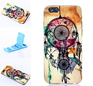 Colorful Windbell Pattern Silicone Soft Cover for iPhone 6/6S