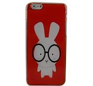 Cartoon Rabbit Plastic Hard Back Cover for iPhone 6 Plus