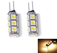 G4 W 13 SMD 5050 130~150 LM Warm wit 2-pins lampen DC 12 V