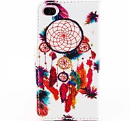 Show Ball  Pattern PU Leather Full Body Case With Stand for iPhone 4/4s