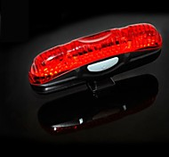 4-Mode 5-LED Waterproof Flash-Steady-Chasing-Chasing Bicycle Tail Light Safety Lights(AAA*2)