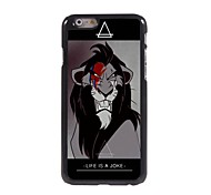 Cartoon Lion Design Aluminum Hard Case for iPhone 6