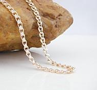 18k cc / 585 chapado en oro rosa de oro y cobre collar de 60cm