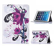 Elegant Flower Pattern Leather Case with Stand for iPad Air 2