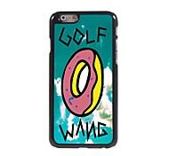 caso duro di alluminio di disegno di golf wang per iPhone 6