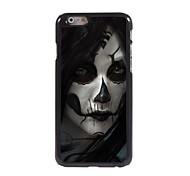 Scary Woman Ghost Pattern Aluminum Hard Case for iPhone 6
