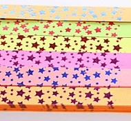 Golden Hot Stamping Pentagram Pattern Lucky Star Origami Materials(40 Pages/1 Color/Package Random Color)