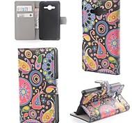 Quallen Muster Leder mit Stand und Kartenslot für Samsung Galaxy Core 2 g355h