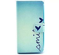 Smile From Heart Pattern PU Leather Full Body Cover with Card Slot for Nokia Lumia N630