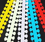 5pcs 3 centimetri x 51 centimetri di carta petali di fiori quilling set creativo fai da te di carta origami di laminazione