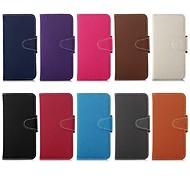 5,5-Zoll-jean Mustermappe Ledertasche für iPhone 6 plus (verschiedene Farben)