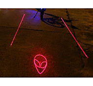 UNGROL ET Pattern 5 LED 4 Flash Mode White+Red Bike Projection Laser Taillight
