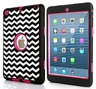 3 in 1 Kombi-Wellenmuster pc& Silikonhülle für iPad mini 3, ipad mini 2, iPad Mini (verschiedene Farben)