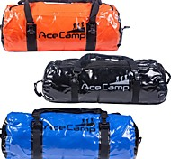 Outdoor Camping Foldable Waterproof Dry Bag Duffel 60x30cm 40L (Orange Blue Black)